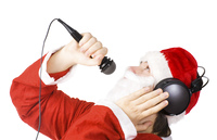 Santa Claus singing a song