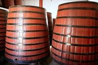 natural wood wine golden barrel cellar