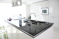 Modern white kitchen clean interior design deco architecture