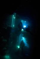 Underwater cave scene