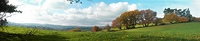 Panoramic view of autumnal country-side in Chagford Devon