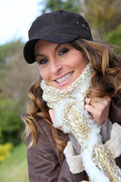 Portrait of beautiful woman with baseball cap
