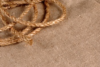 Jute rope and canvas grunge background