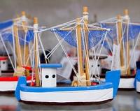 Handcraft fisherboats typical Balearic Majorca souvenir memento