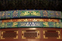 Architectural details of Hall Of Prayer For Good Harvests at the Temple Of Heaven, Beijing, China