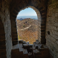 Arch of Mutianyu section of the Great Wall of China, Beijing, China