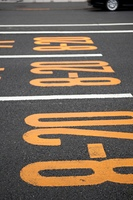 Road marking, Tokyo, Japan
