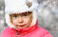 beautiful child in winter