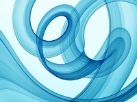 blue swirl theme - high quality rendered abstract background