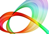 multicolored abstraction over white background - hq rendered image