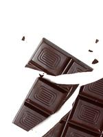 Delicious dark chocolate bar isolated