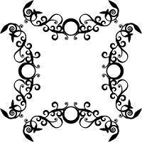 Vector. Ornament circle in black  71
