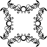 Vector. Ornament circle in black  71