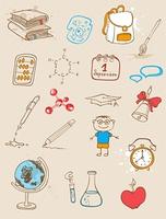Set of  vector school doodles