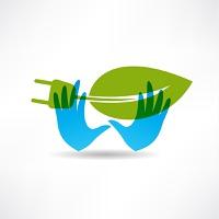 Environmental socket blue hands icon