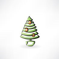 fir-tree grunge icon