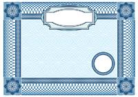 Business background, Guilloche ornamental Element for Certificate, Money, Diploma, Voucher, decorative horizontal frame