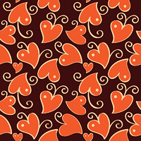 Abstract background with hearts. Vector illustration