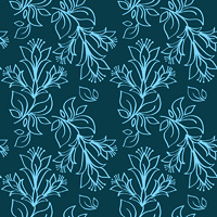 Seamless ornament in blue