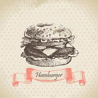Hamburger. Hand drawn illustration