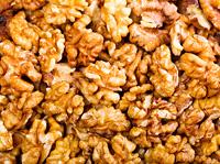 walnut kernels as background