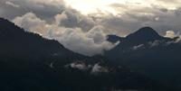 Fog over mountain range, Trongsa District, Bhutan