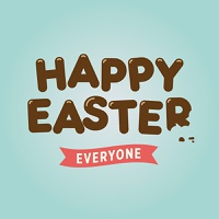 Happy easter card, chocolate letters