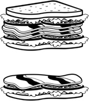 Two sandwiches icons