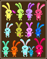 Bunnies. Vector illustration