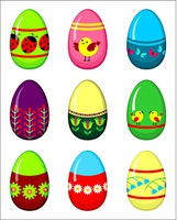Easter eggs set. Vector illustration