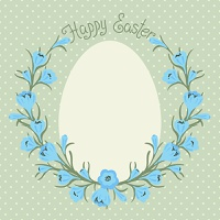 Vintage Happy Easter card with place for your text. Vector illustration.