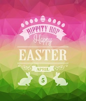 Vector Happy Easter Typographical Poster. Retro design. Happy Easter Typographical Poster