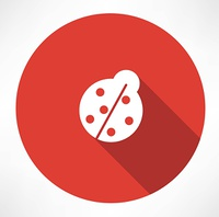 ladybug icon. Flat modern style vector illustration