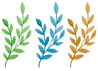 Decorative vector watercolor branch for design