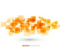 Orange shiny squares shapes technical background. Vector technology design. Orange shiny squares technical background. Vector