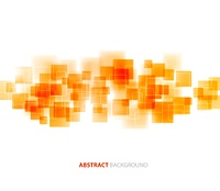 Orange shiny squares shapes technical background. Vector technology design. shiny squares technical background. Vector