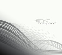 Abstract template background with curved wave. . Abstract template background with curved wave.  Wavy lines.
