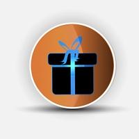 Gift box ? Vector icon