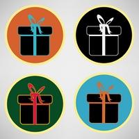 Gift box. Vector icon