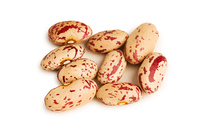Bunch of beans isolated on the white background