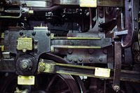 Picture presenting the old metal machine