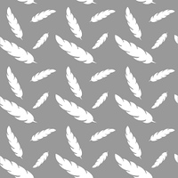 Fying feathers, vector seamless pattern