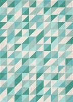 Abstract vector geometric background with green triangles