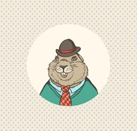 Hand drawn vector illustration for Groundhog Day