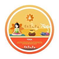 Young woman doing yoga. Yoga lotus pose. Sport concept in flat design style. Young woman doing yoga