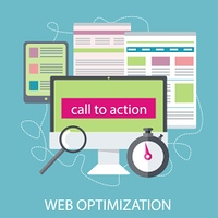 SEO optimization, programming process and web analytics elements. Concept in flat design style. Can be used for web banners, marketing and promotional materials, presentation templates