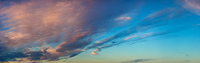 Evening sky with clouds panorama.