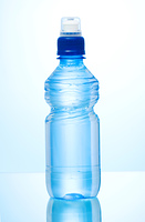 Water bottle against the background