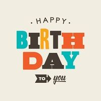 Birthday card letterpress. Editable vector design.