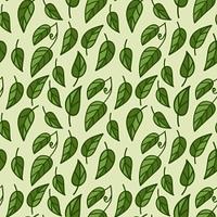 Seamless foliage pattern. vector